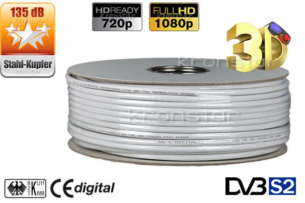 100m 135db satelliten kabel full hdtv 4k uhd antennen. Black Bedroom Furniture Sets. Home Design Ideas