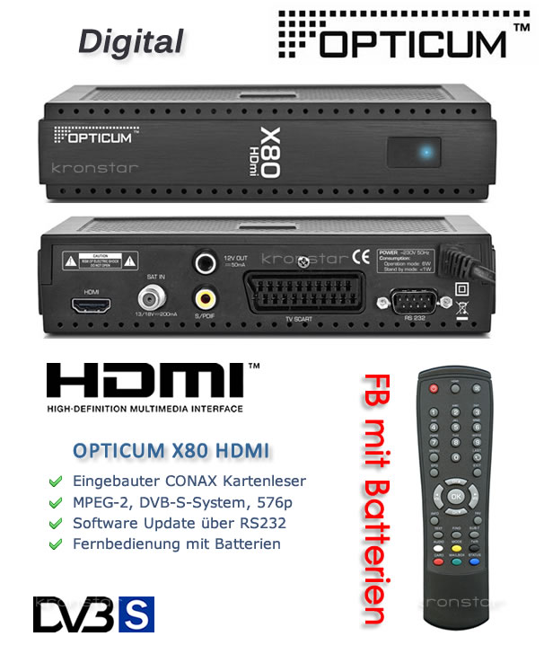 Opticum X80 HDMI SAT-Receiver
