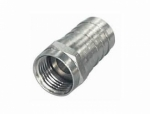 F-Crimp-Stecker | F-Crimpstecker 7,4mm, vernickelt