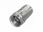 F-Crimp-Stecker | F-Crimpstecker 8,2mm, vernickelt