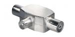 Details ] TV-Zweigeräteverteiler | 2 x Buchse und 1 x Stecker